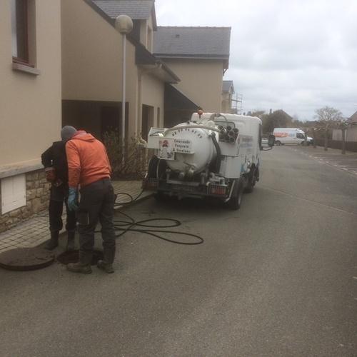 Curage réseau d''eaux usées dans une résidence de vacances ( Ille-et-Vilaine - 35)